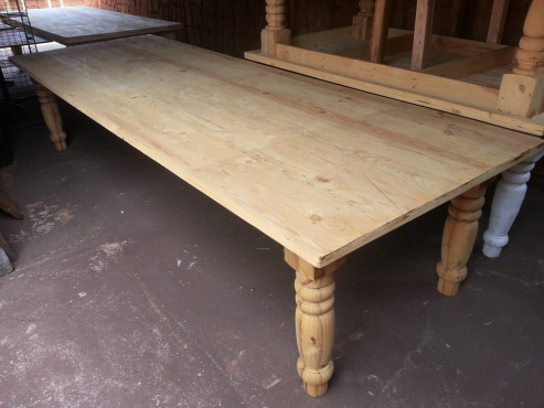 14 Seater Solid Pine Farmstyle Table (3500x1200)