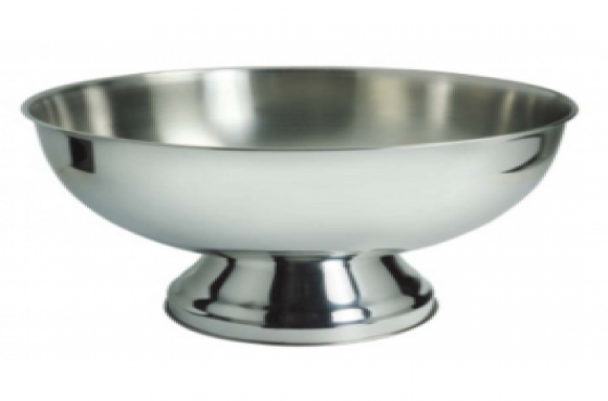 PUNCH BOWL STAINLESS STEEL - 340mm