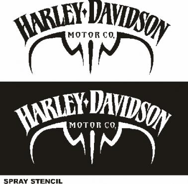 Harley tank spray stencils, decals stickers graphics