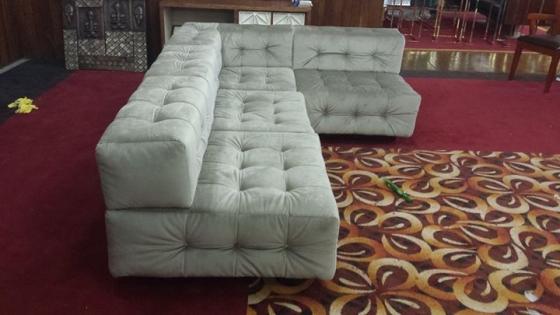 new retro styled corner couches
