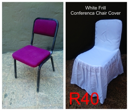182 White Linen Chair Covers for