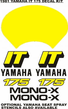Yamaha IT 175 vintage decals stickers graphics kits