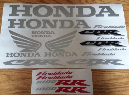 Honda CBR Fireblade decals stickers graphics kits