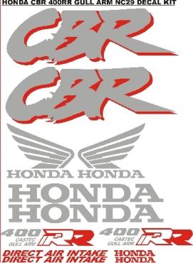 Honda 400 RR gullarm decals stickers graphics kit