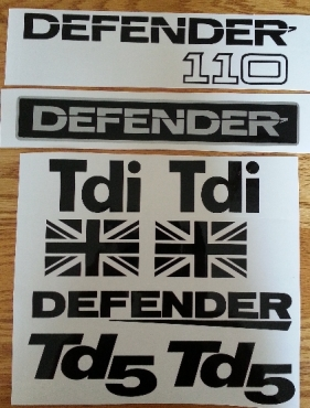 Land Rover defender decals stickers graphics sets