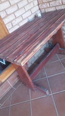 Hout patio tafel