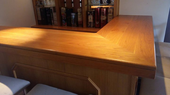 Solid Oak Bar Counter Set