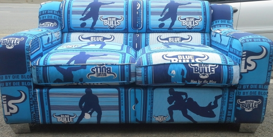 Blue Bulls Rugby two seater Sofa