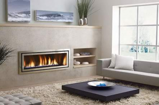 Gas fireplace drop in unit