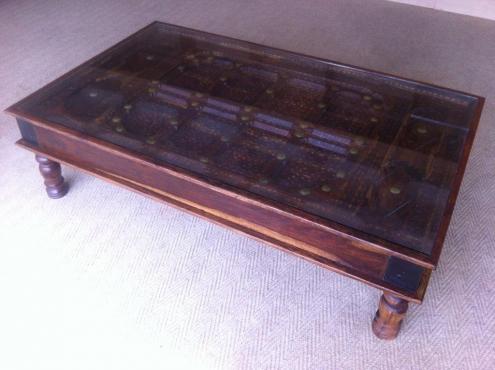 Antique Indian Wooden Door Coffee Table Junk Mail