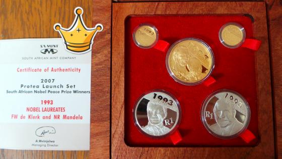 Mandela / De Klerk 2007 Protea Launch Coin Set, used for sale  Johannesburg - Midrand