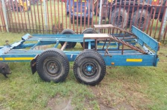 Car trailer 4m double axle for sale.  Please contact for more information and viewing.