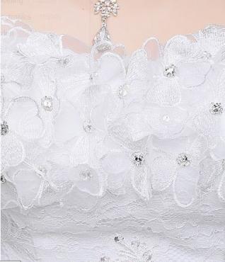 White Princess Bell Wedding Dress - BrandNew never worn