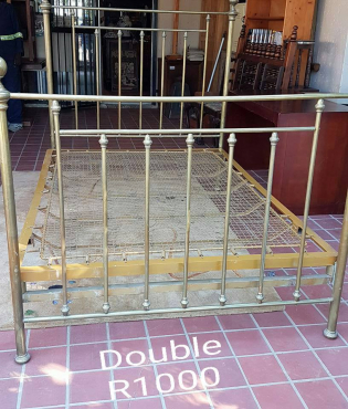 Double Copper Bed