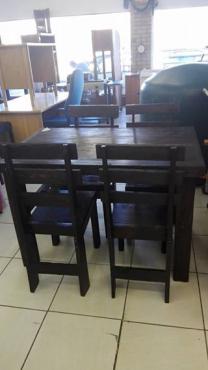 4 Sitplek Hout Tafel Stelletjie 1.2m x 80cm