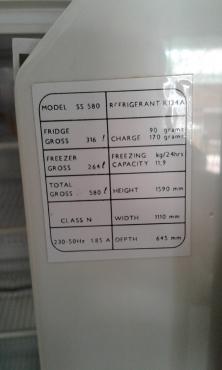 Mercury triple door Fridge/Freezer combination, working condition