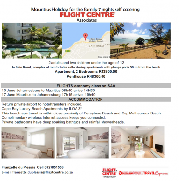 Penthouses and Apartments to rent available in Mauritius and Seychelles