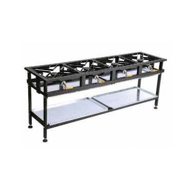 BOILING TABLE GAS - COMMERCIAL - 4 BURNER STAGGERED