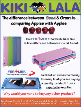 Performer Stackable Kids Beds For Creches, Daycares, Pre-Schools,Nursery,Montessori.