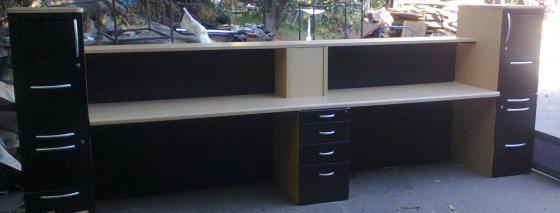 RECEPTION COUNTERS - used - Refurbished.- 400 cm.