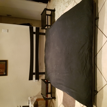 Futon/Sleeper Couch with Tables and Headboard