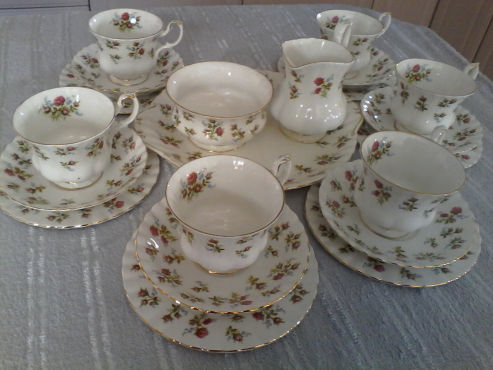 Royal Albert fine bone china teaset. Winsome and Linden Lea
