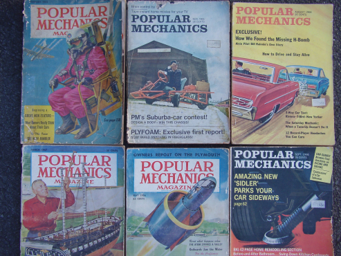 Popular Mechanics Magazines From 1951 - odd months - approx. 62 copies