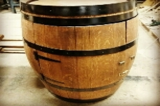 Wine Barrel Mini Bar
