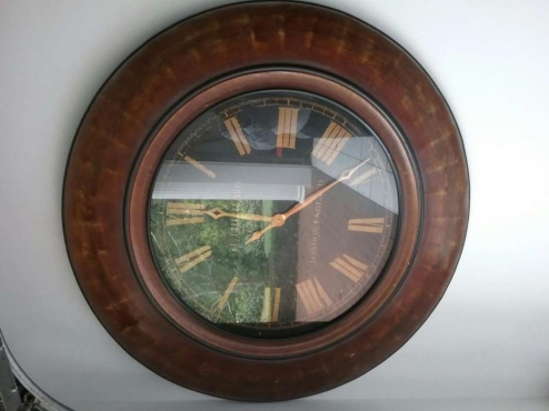 Large Round Ornate Rutherford Wall Clock