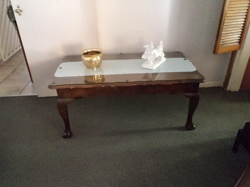 Ball and Claw Entrance Table. Beautiful Piece -  one of a kind.