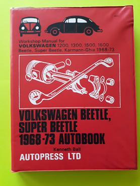 (BOOK) Volkswagen Beetle, Super Beetle 1968-73 - Kenneth Ball.