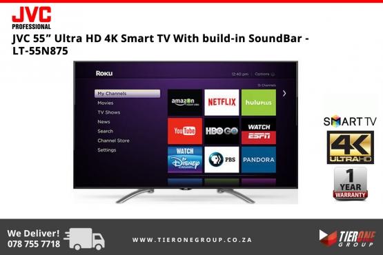 JVC 55 Ultra HD 4K Smart TV With build-in SoundBar   Junk Mail