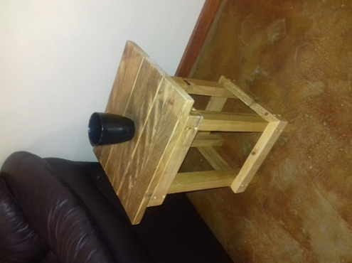Sealed Pallet Wood Side Table