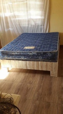Double bed- hardly used.