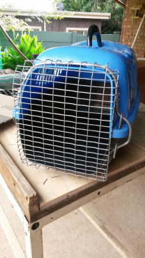 Dog travel crate. For small dog or cat.