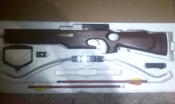 Crisbow MK 2 Crossbow Scope & 2 Arrows - Needs New Bow string