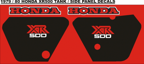 1979 Honda XR 500 tank and side panel decals stickers graphics kits