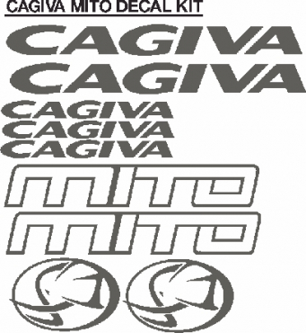 36 peice cagiva info strade vinyl cut decals stickers graphics kit