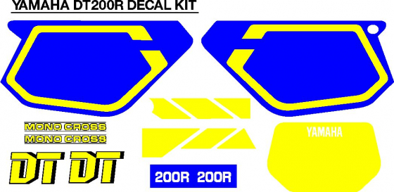 Yamaha DT 200R decals stickers graphics sets