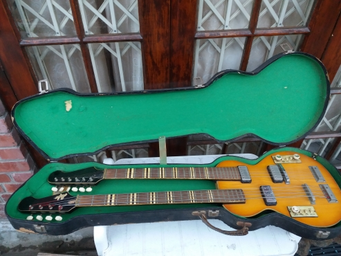 Hofner double neck electric guitar