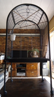 Practically NEW Round-Top, powder-coated Parrot Cage