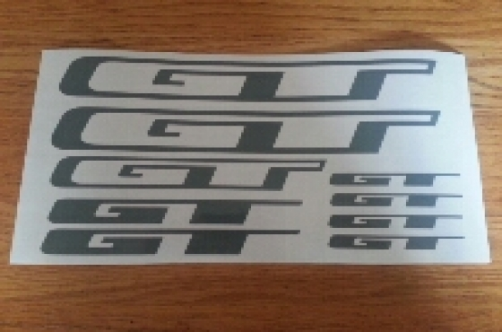 GT frame decals stickers graphics kit