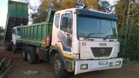 2007 Tata Novus 3434 10 meter tipper for sale WITH current work