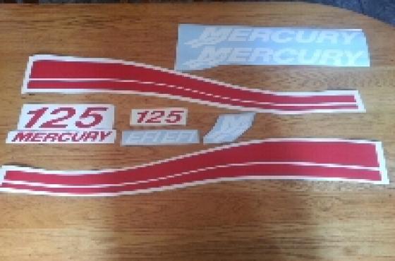 Mercury motor cowl decal sticker kits