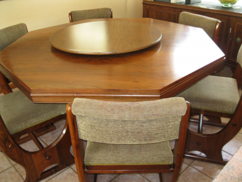 Beautiful Solid Imbuia, dinning room furniture.