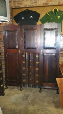 Antique mens wardrobe