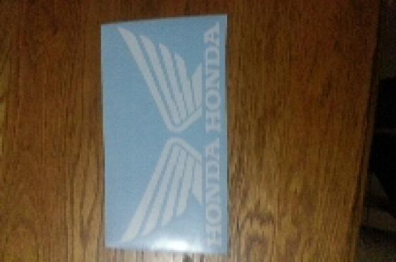 Honda tank wing vinyl decals graphics