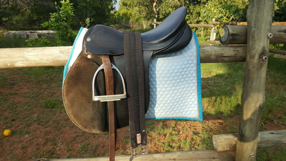 Black Imported Jorge Canaves 17,5 saddle for sale