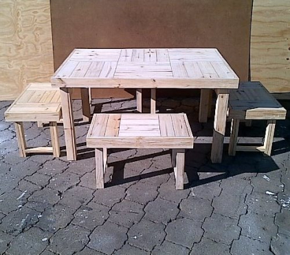 Patio table Farmhouse series 1440 Combo Raw