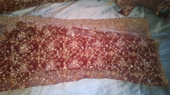 Bridal Lehenga Copper Gold